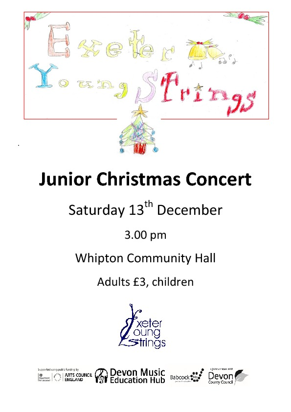 Junior Christmas Concert poster 2014