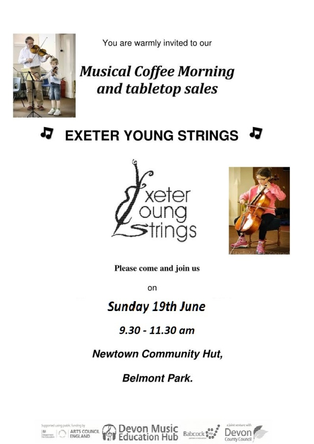 Coffee morning poster June 2016